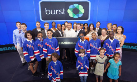 "Burst Teams up with ""Ice Hockey in Harlem"" to Ring NASDAQ Closing Bell"
